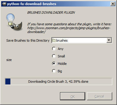 Brushes Downloader Gimp Plugin